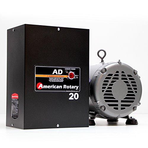 125 HP Manual Gearhead Lathe American Rotary Phase Converter 240 VAC Single To Three Phase Wall Mount - AD-20-ML