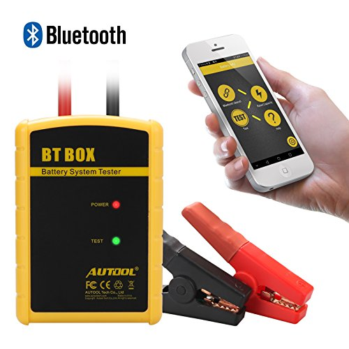 AUTOOL Direct Auto Battery Load Tester 100-2400 CCA Bluetooth Battery Health Wireless Diagnose Bad Cell Analyzer Both Fit for Android IOS System for 12V Cars