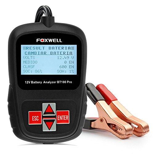 Foxwell BT100 Pro Automotive Battery Tester 12V Digital Battery Analyzer Voltmeter Capacity Tester
