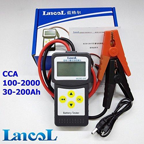 LANCOL MICRO-200 12V Digital Lead acid Battery Load Tester Car Battery Analyzer Black