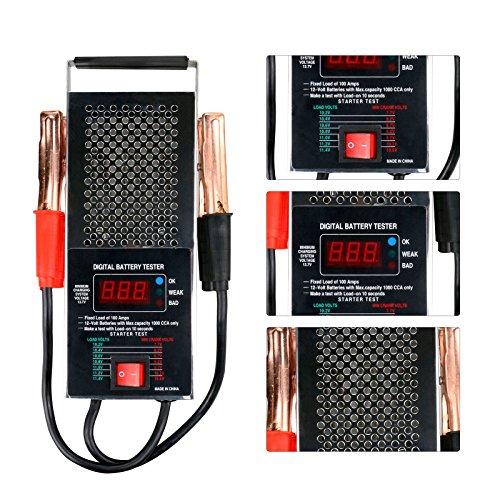 Mrcartool BT-008BS 100Amp Digital Battery Load Tester 6V 12V Car Light Truck Motor Engine Volume Accurate Test in 10 Seconds