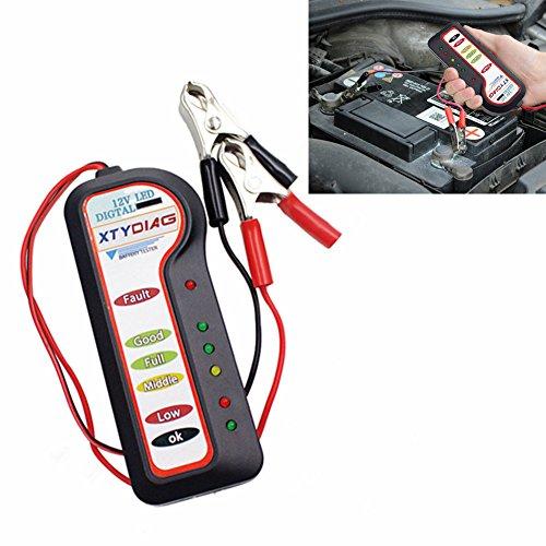 XTYDIAG 12V Car Battery Tester 6 LED Digital Voltage Analyzer Tool