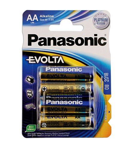 Connect - 30646 Pansonic Evolta AA Battery 12 x 4 Blister Packs