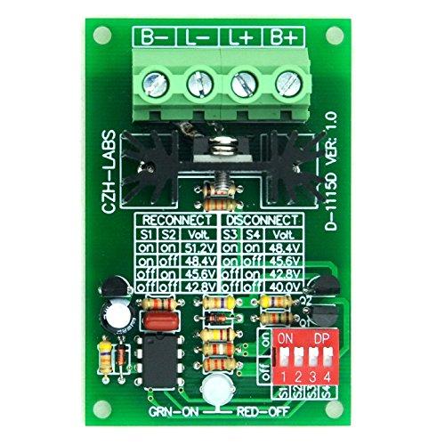 Electronics-Salon Low Voltage Disconnect Module LVD 48V 30A ProtectProlong Battery Life