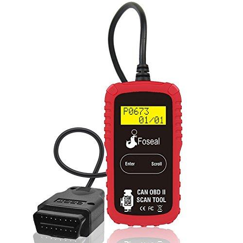 OBD2 Scanner Foseal Automotive Code Reader Car Diagnostic Scan Tool Check Engine Light Code Reader Car OBDII Scanner for OBD2 Protocol Vehicle