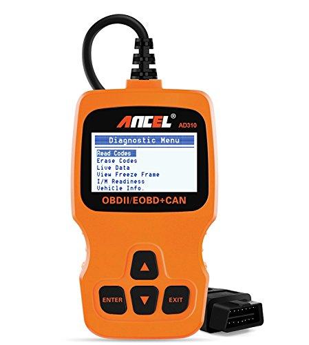 ANCEL AD310 Classic Enhanced Universal OBD II Scanner Car Engine Fault Code Reader CAN Diagnostic Scan Tool - Orange