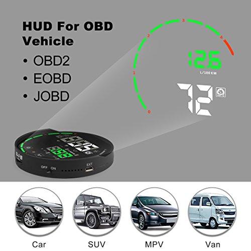 Color Display HUD Head Up Display Color APP Bluetooth OBD II Scanner Car Engine Fault Code Reader CAN Diagnostic Scan Tool for Andriod