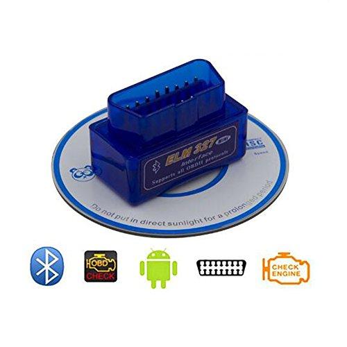 Carrep ELM327 OBD2 Code Reader Scanner V15 Bluetooth Diagnostic Interface Fit Android
