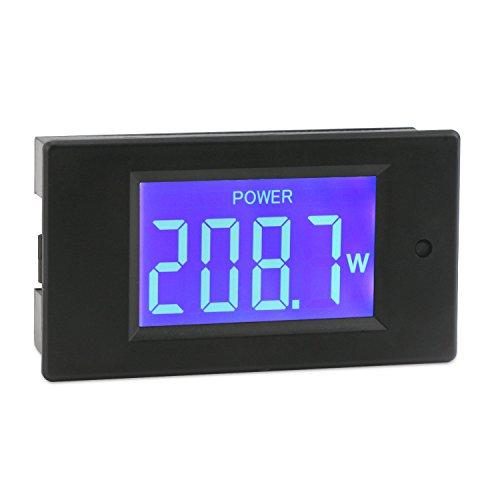 DROK AC Digital Multimeter Voltage Current Power Energy Detector Meter 80-260V 5A Ammeter 220V Voltmeter LCD Display Volt Amp Monitor Panel Gauge Mount
