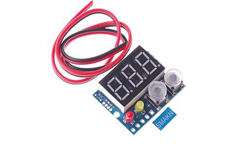 SMAKN DC-DC 036 Digital Voltmeter 200V Limit Alarm 23 Wires Universal Voltage Tester(Red
