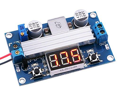 Yeeco 3-35V to 35-35V Adjustable DC to DC Buck Converter step-down power Supply DC Converters Voltage Regulator volt Regulated Digital LED Voltmeter