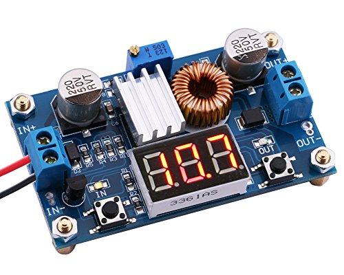 Yeeco 4-38V to 125-36V Adjustable DC to DC Buck Converter step-down power supply Voltage Regulator 36V to 24V 12V 9V 5V 3V 33V volt Regulated Digital LED Voltmeter
