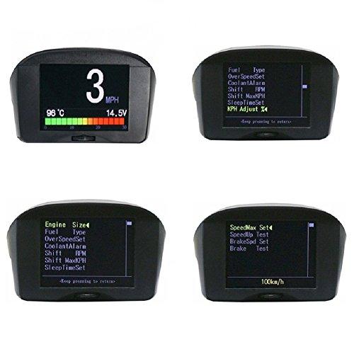 Autool X50 PLUS Multi-Function Car OBD Smart Digital Meter Alarm Fault Code Water Temperature Gauge Digital Voltage Speed Meter Display Support 12V OBDII Diesel Vehicles