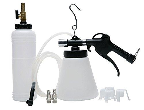 8milelake Pneumatic Brake Fluid Bleeder Tool with 4 Master Cylinder Adapters 90-120 PSI