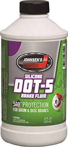 Johnsens 7012-6-6PK Silicone DOT-5 Brake Fluid - 12 oz Pack of 6