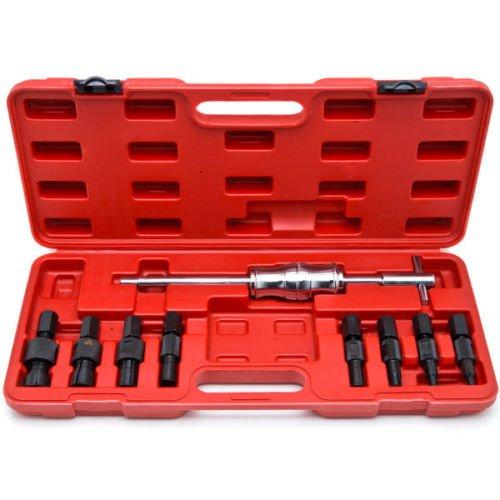 Supercrazy 9PCS Blind Hole Pilot Bearing Internal Extractor Puller W Slide Hammer Removal Tool Kit