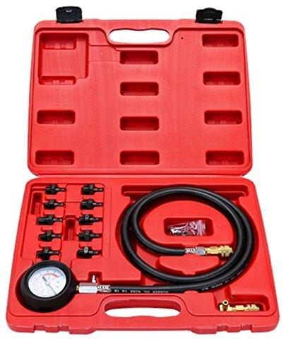 WINMAX 12 Pc Engine Oil Pressure Tester Gauge Diagnostic Test Kit w 10 Fittings 140 PSI