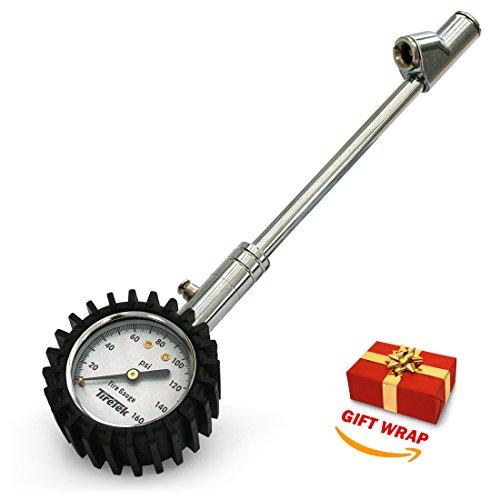 TireTek Truck-Pro Dual Head Tire Pressure Gauge Heavy Duty - 160 PSI