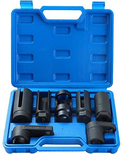 Ztech 7pcs O2 Oxygen Sensor Oil Pressure Sending Unit Master Sensor Socket Set