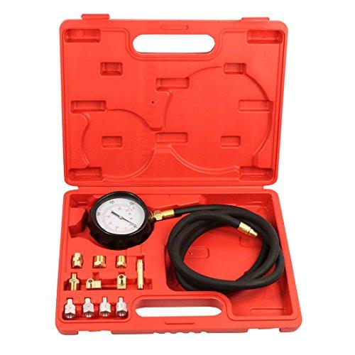 Qbace Cartruck Diesel Petrol Wave Box Oil Pressure Meter Gauge Tester Tool Kit Set