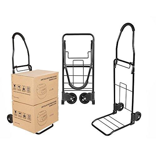 Folding Hand Truck Dolly Heavy Duty Luggage Trolley Two-Wheeled Cart 110 lbs