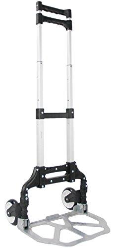 VIVO Aluminum Folding Hand Truck Assistant Telescoping Dolly Cart 165 lb Carrying Capacity CART-FHT1