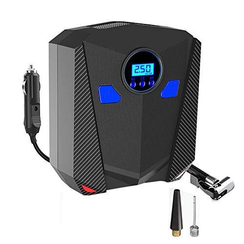 ZENAN 12V DC Portable Air Compressor Pump,Digital Tire Inflator,Car Tire Pump, Easy to Read Digital Pressure Gauge Built in LED Light