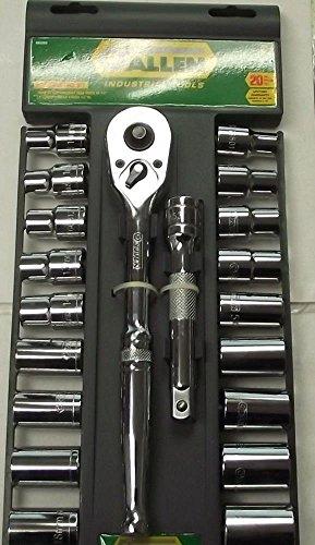 Socket Sets Allen 66636 20Pc Socket Set 12 Drive Tools Sae Metric