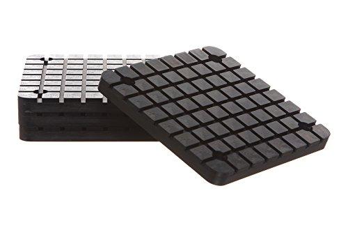 REPLACEMENTKITSCOM - Square Rubber Arm Pads Fit BendPak Danmar 2-Post Car Lift New Set of 4 - Black