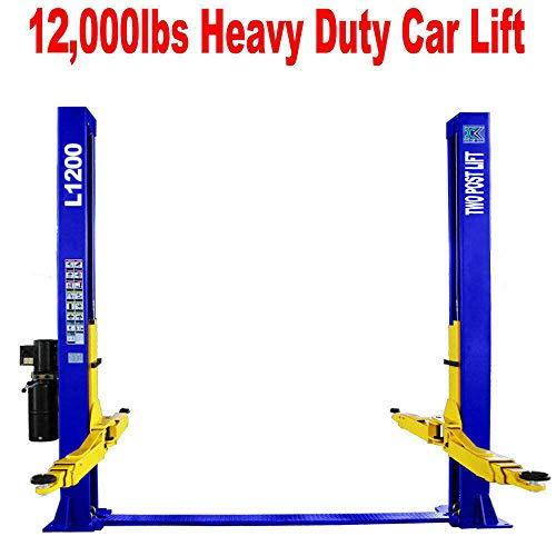Two Post L1200 Auto Lift 12000 lb Capacity Car Vehicle Lift 110V  12 Month Warranty