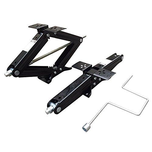 2pcs 5000Lb Scissor Jack 24 Lift Leveling Floor Jacks with Crank Handle for RV Trailer Camper