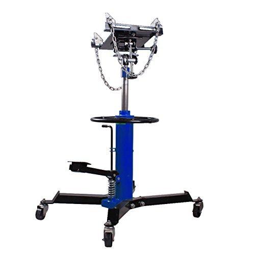 Iglobalbuy 2 Stage 1100lb Adjustable Height Hydraulic Telescoping Transmission Jack With Pedal 360° Swivel Wheel Lift Hoist