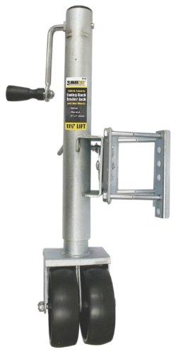 MaxxHaul  70149 11-12 Lift Swing Back Trailer Jack with Dual Wheels - 1500 lbs Capacity