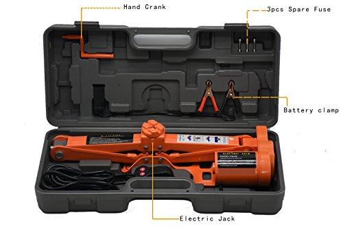 Sywwlov 30 Ton 6600lb12 V DC Fully Automatic Electric Scissor Car Lift Jack Repair Tire Wheel Chang Kit 30T Electric Jack