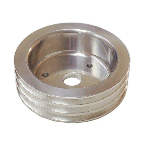 3 Groove Aluminum Crankshaft Pulley LWP Long Water Pump For SBC Chevy 350