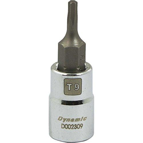 Dynamic Tools D002309 14 Drive Torx Bit T9 Head Socket Chrome Finish