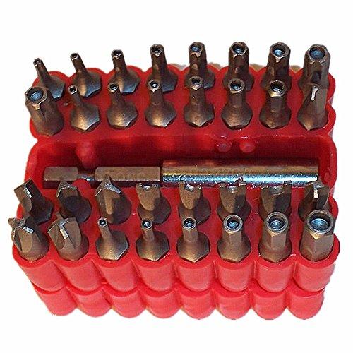33Pc Security Magnetic Bit Set Screwdriver Holder Torx Hex Star Security Tamper Proof Torq Torx Hex Bit Set 60Mm Magnetic Holder 1-