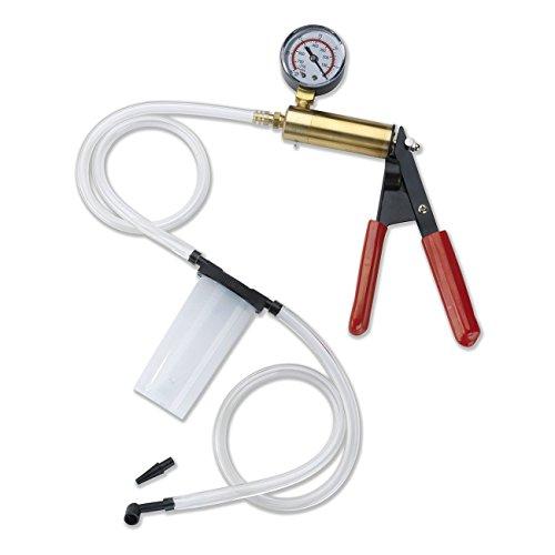 2-in-1 Brake Fluid Bleeder Vacuum Pump Test Tuner Kit - Hand Held Manual Vacuum Gauge Pump Tool Kit with Gauge for Automotive by Jecr
