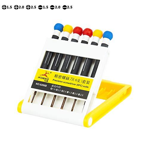 6 Piece Precision Screwdriver Set Rdeer Magnetic Slotted Phillips Multifunction Repair Tool Kit For SmartphoneLaptopTabletCamerasClockToyWatchGlassesJewelry etc