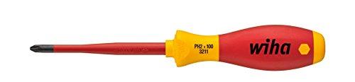 Wiha PH2 x 100mm Slim Fix VDE Screwdriver