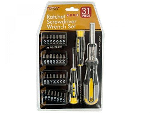 Wholesale 31-Piece Ratchet Screwdriver Wrench Set - Set of 3 Tools Screwdrivers