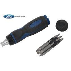 13 Piece Ratchet Screwdriver Bit Set Tools Equipment Hand Tools
