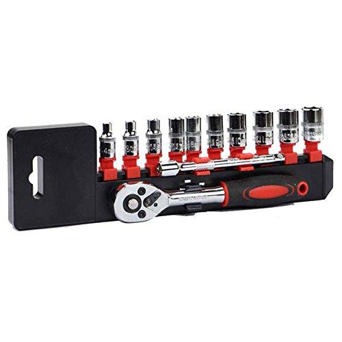 Zehui Ratchet Wrench Steel Sleeve Ratchet Wrench Socket Lever Tool Set 12Pcs 14 Vanadium