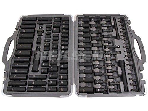 Air Impact Socket and Bit Set Imperial Metric master box set 119pc