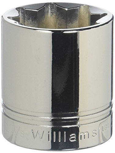 Williams ST-836 12 Drive Shallow Socket 8- Point 1-18-Inch