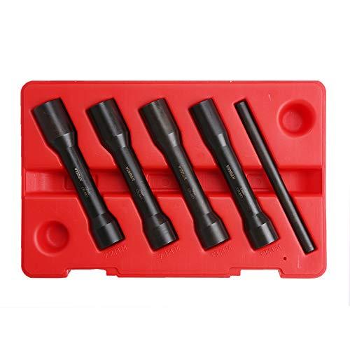 5PC 12 Drive DeepLong Reach Twist Damaged Nut Socket Set with Case