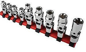 Sunex Tool 9912 14 Drive 9 Piece Universal Star Chrome Socket Set