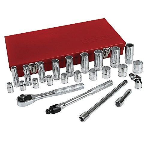 Urrea 5200CL 6 Point 38-Inch Drive Chrome Socket Set 26-Piece