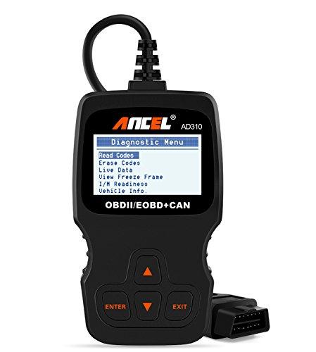 ANCEL AD310 Classic Enhanced Universal OBD II Scanner Car Engine Fault Code Reader CAN Diagnostic Scan Tool-Black