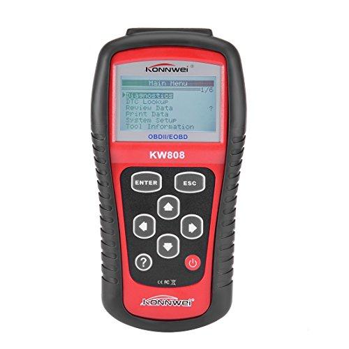 KONNWEI Authorized KW808 General Purpose Vehicle Auto OBDII EOBD Scanner Reader OBD2 Diagnostic Scan Tool OBD2 II Errors Code Reader